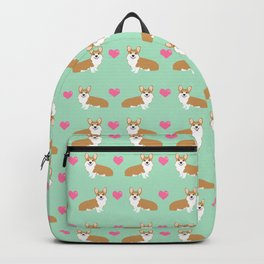 Corgi love hearts welsh corgis dog breed gifts essential dog lover must haves Backpack