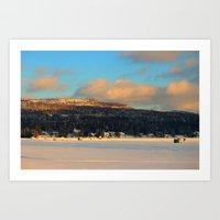 Fishing Village on Seymour Lake -- Art Print