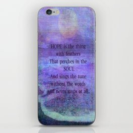 Emily Dickinson hope soul quote iPhone Skin