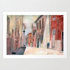 Italy, watercolor Art Print
