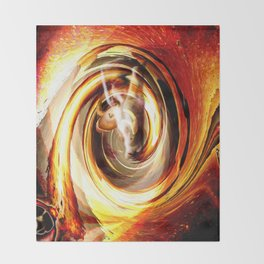 Creating With Fire Throw Blanket