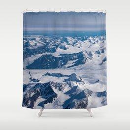 Aerial Glacier Four - Alaska Shower Curtain