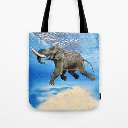 Rajan The Swimming Elephant Tote Bag