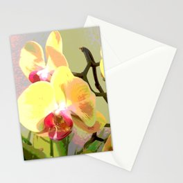 Yellow Orchids, afternoon sun Stationery Cards