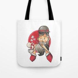 Knitting Bearded Gentleman Tote Bag