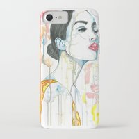 watercolour iPhone & iPod Cases featuring watercolour by Udya