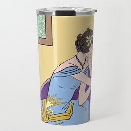 CLARICE: Art Deco Lady - Summer Romance Travel Mug