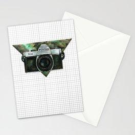 Pentax K1000 (Green Nebula) Stationery Cards