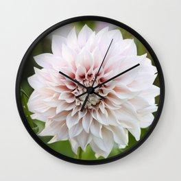 Cafe Au Lait Dahlia Buds and Bloom Wall Clock