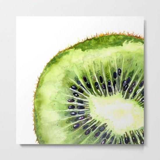 Kiwi Slice Metal Print