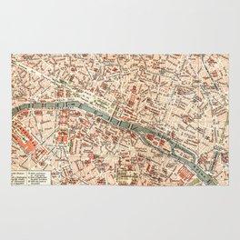 Vintage Map of Paris Rug