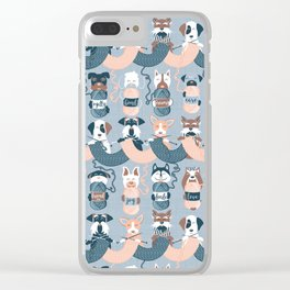 Knitting dog feelings I Clear iPhone Case
