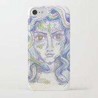 medusa iPhone & iPod Cases featuring MEDUSA by Pumpkinstrudel Studio