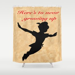Never growing up Shower Curtain