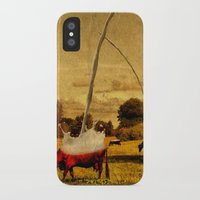 cows iPhone & iPod Cases featuring Cows by Gil Finkelstein