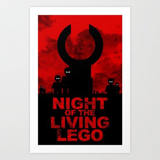 Night of the Living LEGO Art Print