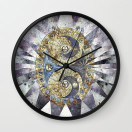 Space Odyssey - Lunar Phases I Wall Clock