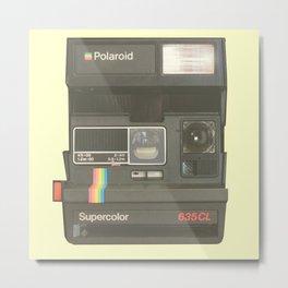 Vintage Camera - Polaroids Supercolor 635CL Metal Print