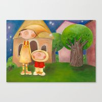 mom Canvas Prints featuring Mom by Gabriela Granados