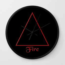 Fire Element Symbol Wall Clock