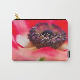 Red Anemone Carry-All Pouch