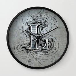 monogram l Wall Clock