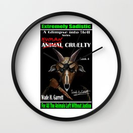 """""""Human Cruelty"""" book cover art with signature Wall Clock"""