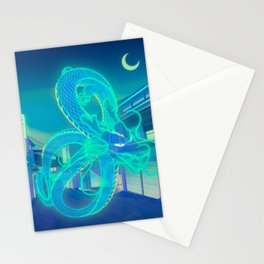 Neon Dragon Stationery Cards