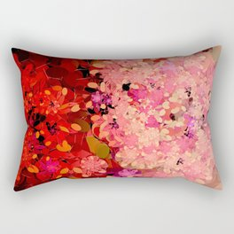 Two Different Worlds -- Floral Pattern Rectangular Pillow