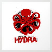 agents of shield Art Prints featuring Agents Of Hydra by monsieurgordon