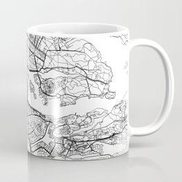 Stockholm White Map Coffee Mug