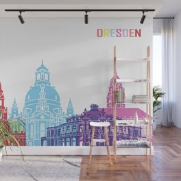 Dresden skyline pop Wall Mural
