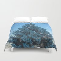 christmas tree Duvet Covers featuring Christmas tree  by Svetlana Korneliuk