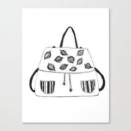 Leaf bag Canvas Print