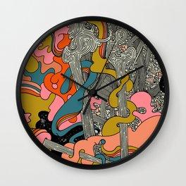 Warm Petals & Salty Shells Wall Clock