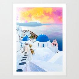 Greek Fantasy #painting #travel Art Print