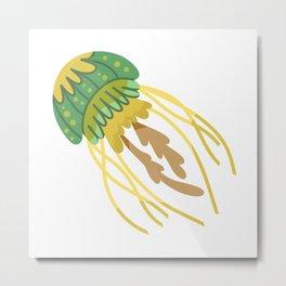 Cute Jellyfish Metal Print