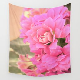 peach colored flower Wall Tapestry