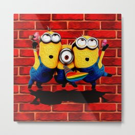 Minion Wallpaper Metal Print