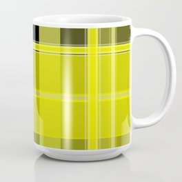 Yellow and Black Plaid Coffee Mug