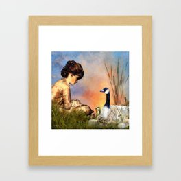 Six Geese a Laying Framed Art Print
