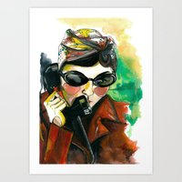 amelie Art Prints featuring Amelie by Gra Pereira