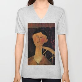 "Amedeo Modigliani ""Beatrice Hastings"" 1915 Unisex V-Neck"