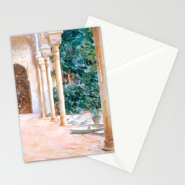 """John Singer Sargent """"Loggia, View at the Generalife"""" Stationery Cards"""