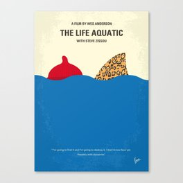 No774 My The Life Aquatic with Steve Zissou minimal movie poster Canvas Print