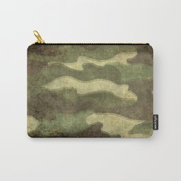 Distressed Camouflage Carry-All Pouch