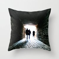 silhouette Throw Pillows featuring Silhouette by Kim Ramage