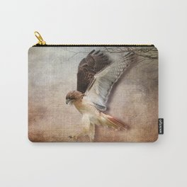Red Tail Hawk in Vintage Light Carry-All Pouch