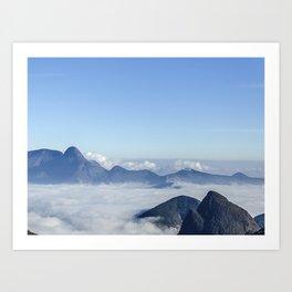 Mar de nuvens Art Print