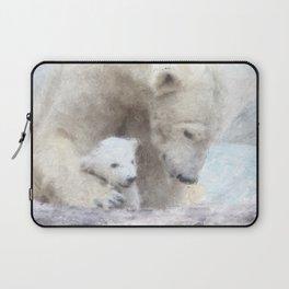 Polar Baer with Baby Laptop Sleeve